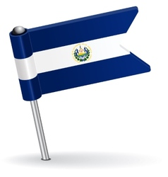 El Salvador pin icon flag vector image