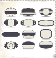 Empty vintage labels vector image
