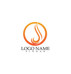 Fire flame nature logo symbols icons template vector
