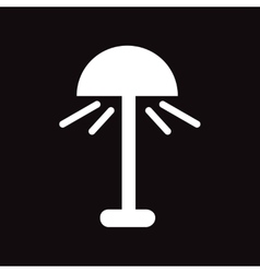 Flat icon in black and white style lamp vector