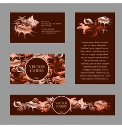 Four cards with example text in the color sepia vector
