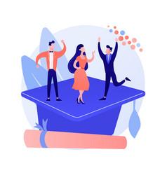 graduation party concept metaphor vector image