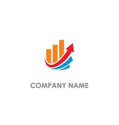 Graph business arrow up logo vector