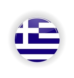 Greece icon circle vector image
