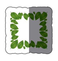 green leaves framework icon vector image