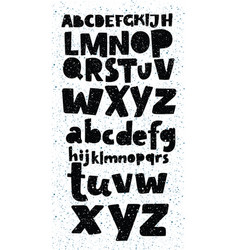 grunge full alphabet and numbers vector image