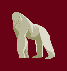 In flat style gorilla vector