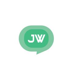 Initial letter logo jw template design vector