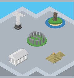 Isometric attraction set of egypt chile rio and vector