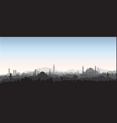istanbul city skyline travel turkey background vector image