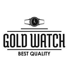 Jewelry watch logo simple black style vector