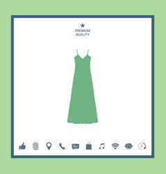 Long dress evening dress combination or nightie vector