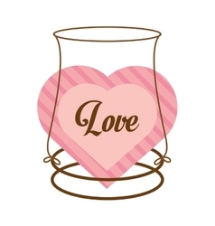 love decor card cute heat vector image