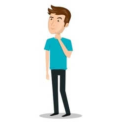Man person thinking icon vector