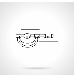 Micrometer flat thin line icon vector