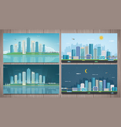 modern city landscape building and architecture vector image