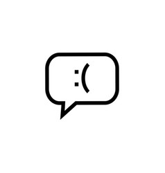 negative feedback icon graphic design template vector image