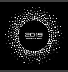 New year 2019 card background confetti circle vector