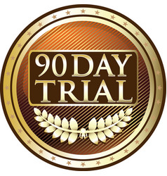 Ninety day trial vector