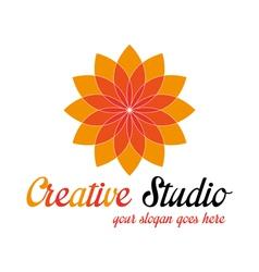 Orange media logo template vector image