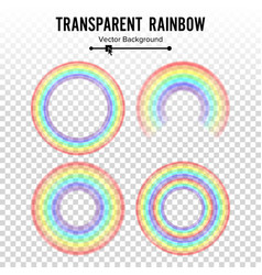 rainbow circle element set color spectrum vector image