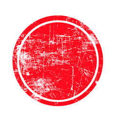 Red circle grunge stamp with blank isolated vector