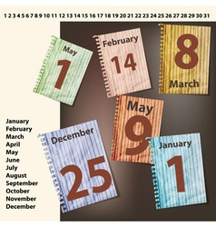 sheets of calendar vector image