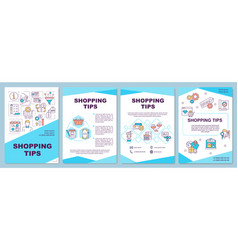 shopping tips brochure template vector image