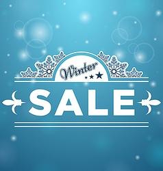 Signboard Winter Sale tree stars vector