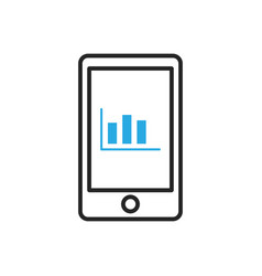 Smartphone icon mobile statistics vector