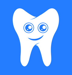 smiling tooth dental vector image