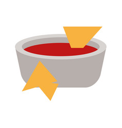 Soup plate tomato flat vector