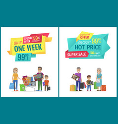 special offer banner with people shopping vector image