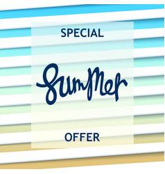 Special summer offer creative design vector