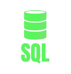 sql database icon logo design ui or ux app vector image