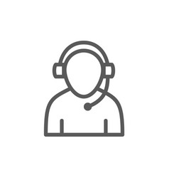 Support worker line icon vector