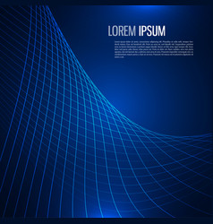 tech background with abstract wave line vector image