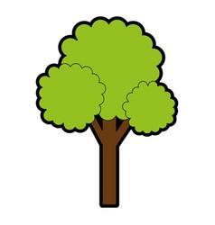 tree plant pixelated icon vector image