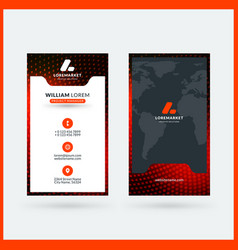 Vertical double-sided black and red modern vector