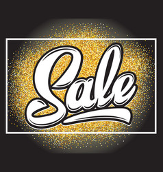 with calligraphic lettering sale on vector image