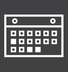 Calendar line icon mobile and website button vector