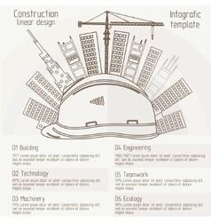construction linear design vector image