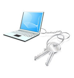 laptop keys access concept vector image vector image