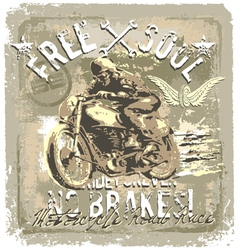motorcycle road racer vector image