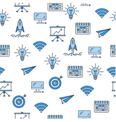seamless pattern with business icons vector image