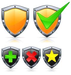 shield security vector image vector image