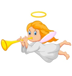 Cartoon cute angel vector image vector image