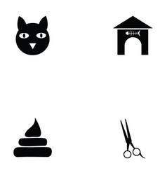 cat icon set vector image