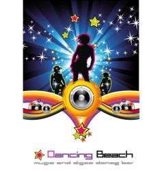 dancing night background vector image vector image