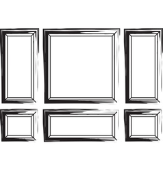 Decorative frames for walls or backgrounds vector image vector image